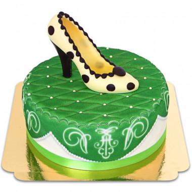 Grön Deluxetårta med chokladsko