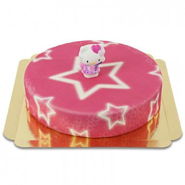 Hello Kitty på stjärntårta