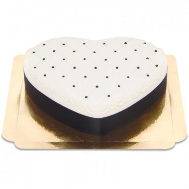 Deluxe Alla Hjärtans Dag-tårta, Svart