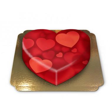 Hjärttårta i hjärtform