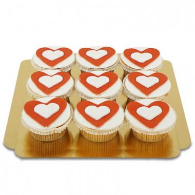 Hjärtcupcakes