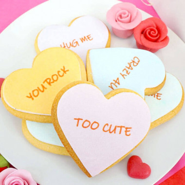 Kak-hjärtan med kärleksmotiv (12 st)