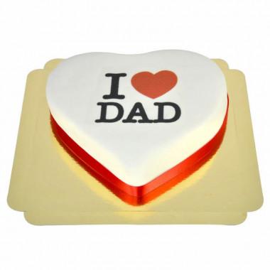 I Love Dad-hjärttårta