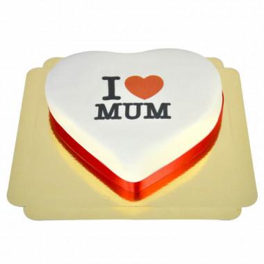 I Love Mum-hjärttårta