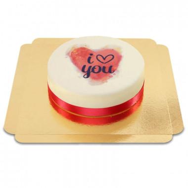 I love you-tårta