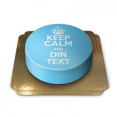 """""""Keep Calm and..""""-Tårta, blå"""