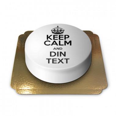 """Keep Calm and..""-Tårta, vit"