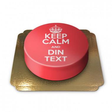 """""""Keep Calm and..""""-Tårta, röd"""
