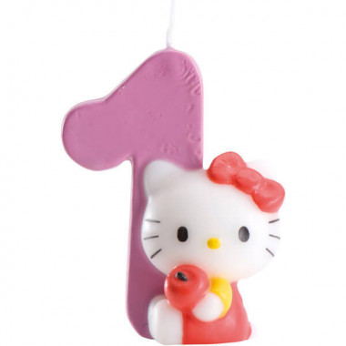 Hello Kitty tårtljus (siffra 0-9)