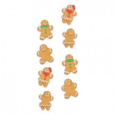 Sockerdekoration med pepparkaka tema (8 st)