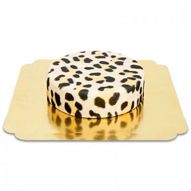 Leopardmönster tårta