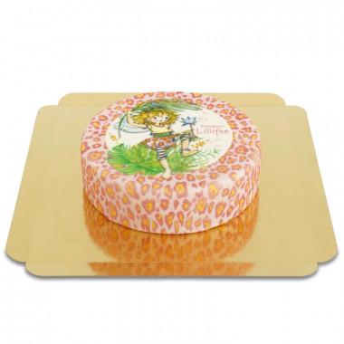 Prinsessan Lillifee tårta med leopardmönster