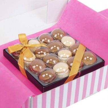 Guldiga Jul-Macarons (16 st)