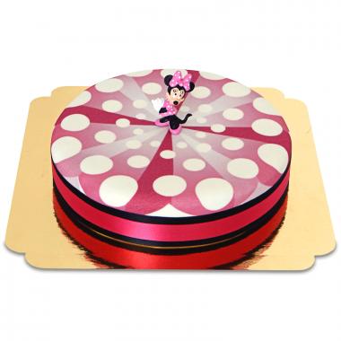 Mimmi Pigg på rosa tårta med tårtband