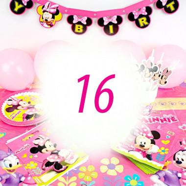 Partyset Mimmi Pigg för 16 personer - utan tårta