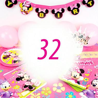 Partyset Mimmi Pigg för 32 personer - utan tårta