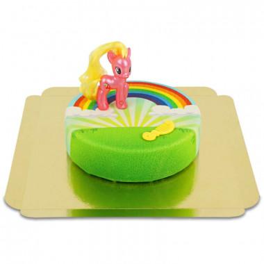 My Little Pony Cherry Berry på regnbågstårta