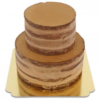 Tvåvånings Naked Cake med chokladsmak