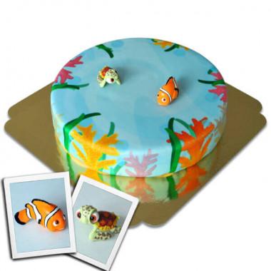 Nemo och Physen på havstårta