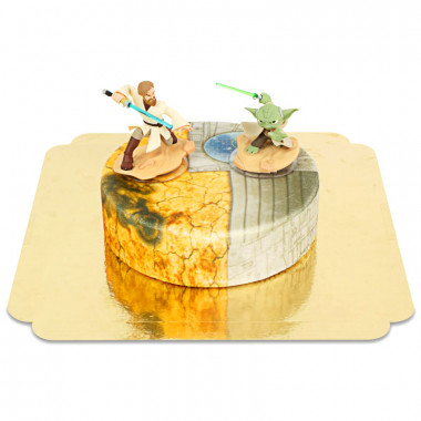 Obi-Wan Kenobi & Bemästra Yoda på Clone Wars tårta