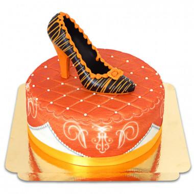 Orange deluxetårta med chokladsko