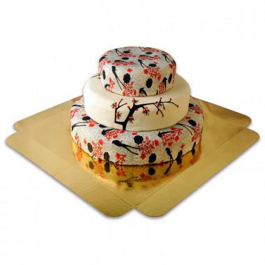 Cherry Blossom Bröllopstårta