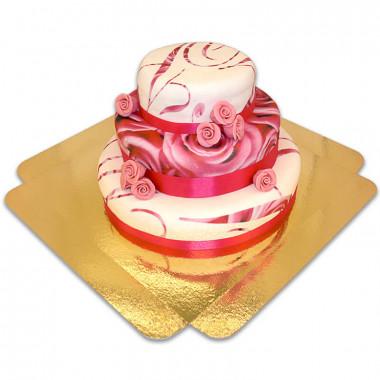 Pink Wedding Bröllopstårta
