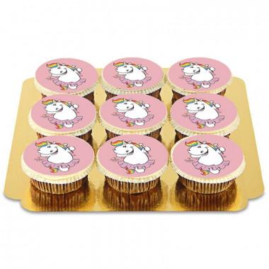 Rosa Chubby Unicorn Cupcakes - 9st