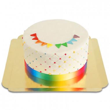 Pride Deluxe tårta - dubbel höjd