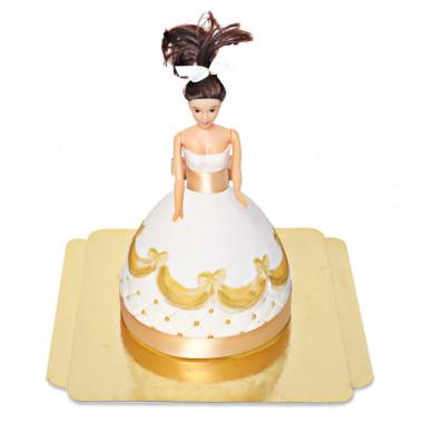 Deluxe docktårta prinsessa, guld