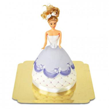 Deluxe docktårta prinsessa, lila