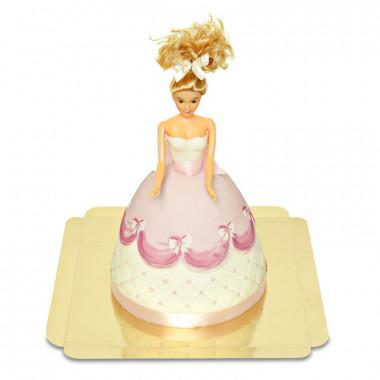Deluxe docktårta prinsessa, rosa