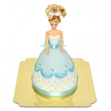 Deluxe docktårta prinsessa, blå