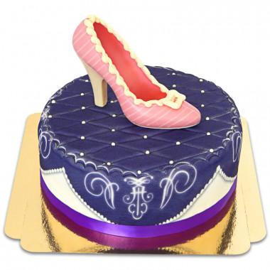 Lila deluxetårta med chokladsko