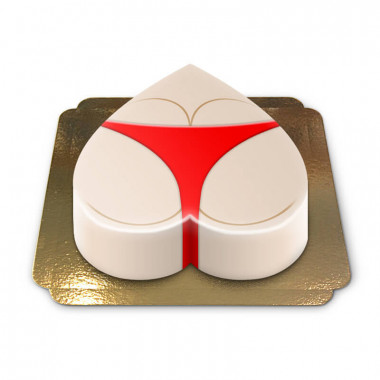 Rumptårta, röd bikini