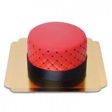 Röd Deluxe tårta