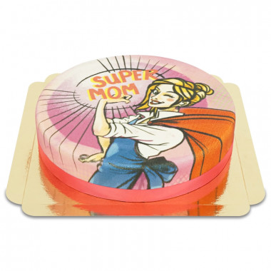 Rosa Supermamma-tårta