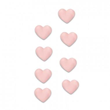 Sockerhjärtan rosa (8 st)