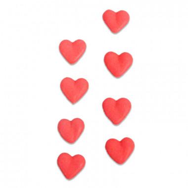 Sockerhjärtan röda (8 st)