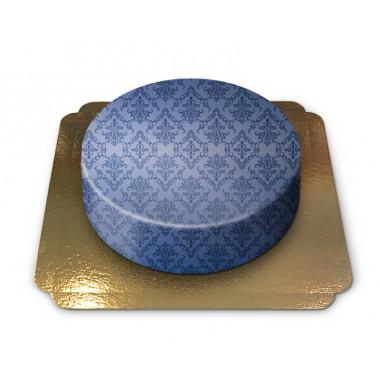 Mönstertårta, blå