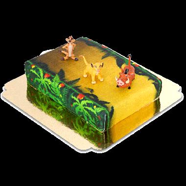 Simba, Timon & Pumba på djungeltårta