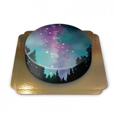 Tårta med natthimmel