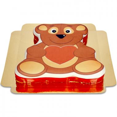 Teddybjörntårta med hjärta