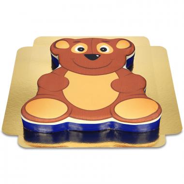 Teddybjörntårta i nalleform