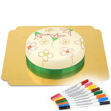 Tårta med tårtpennor