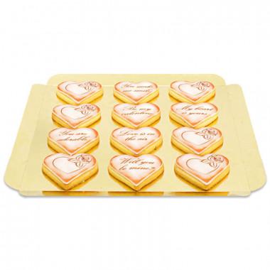 Alla hjärtans dag kakor med kärleksmotiv - röd