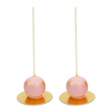 Alla hjärtans dag Deluxe Cake-Pops i rosa (10 stycken)