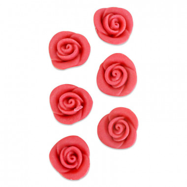 Marsipanros, röd (6 st)