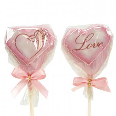Valentines Cake-Pops Rosa (12 st)