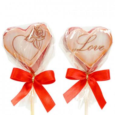 Valentines Cake-Pops Röda (12 st)